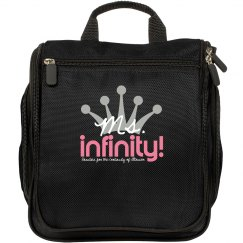 MS. INFINITY Logo Make-up Bag
