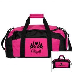 Abigail. Gymnastics bag