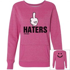 Fuxk Haterz Pink Sweatshirt