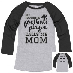 Custom Football Mom Name Number