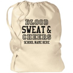 Blood Sweat Cheers Dirty Cheer Clothes Bag
