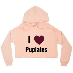 I love Puplates Crop Top