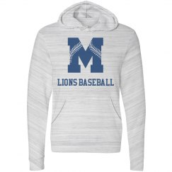 Moore Lions Grey Marble Hoodie with blue