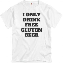 Free Gluten Beer Drinker
