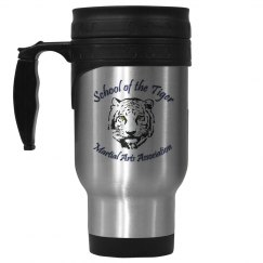 14oz Stainless Steel Travel Mug with Logo
