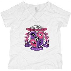 Crest pink shirt Plus size