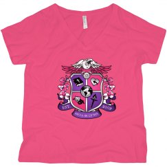 Crest pink shirt Plus size