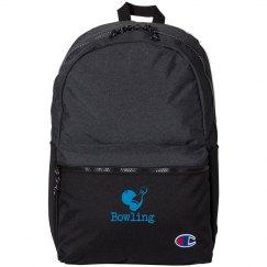 i love bowling backpack