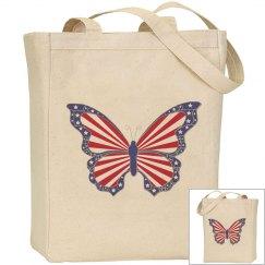 Patriotic Butterfly Bag