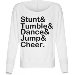 Stunt Tumble Dance Jump Cheer