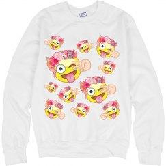 Fashion Emoji Sweatshirt