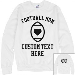 Custom Football Mom Sweatshirt
