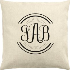 Customizable Monogram Trendy Pillowcase