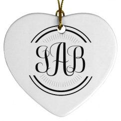 Porcelain Heart Ornament