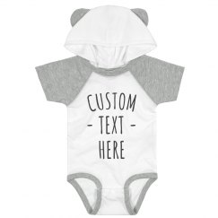 Customize a Cute Hooded Baby Bodysuit