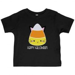 Happy Halloween Candy Corn Black Shirt