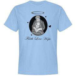 Faith Love Hope Shirts Greyscale