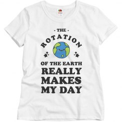 Cute Earth's Rotation Makes My Day