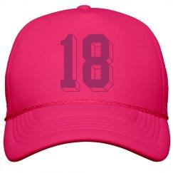 18th Birthday Girl's Neon Cap