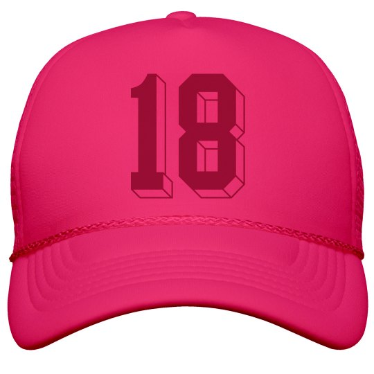 18th Birthday Girls Neon Cap Snapback Trucker Hat