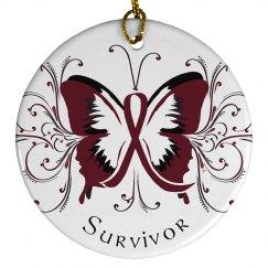 Burgundy Butterfly Ornament
