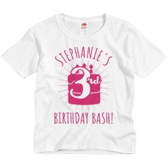Customizable 3rd Birthday Group Tee