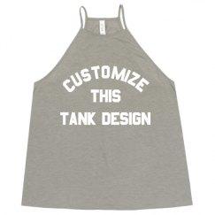 Ladies Flowy High Neck Premium Tank