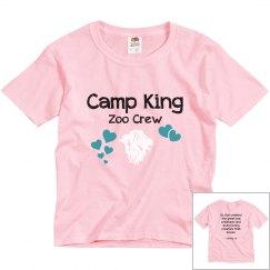 King zoo crew basic tshirt with verse