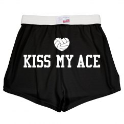 Kiss My Ace Funny Volleyball Wordplay Shorts