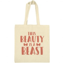 Beauty is a Beast Cheerleader Bow Tote