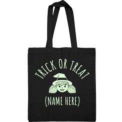 Custom Glow In Dark Cute Witch Bag