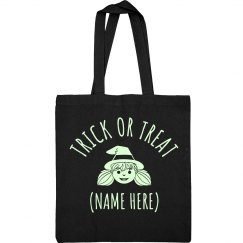 Custom Glow In Dark Cute Witch Bag