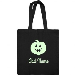 Glow In Dark Pumpkin Candy Bag
