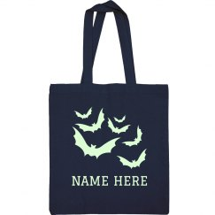 Custom Name Glow-In-The-Dark Bats Bag
