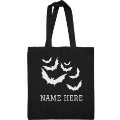 Custom Name Glow-In-The-Dark Bats Bag
