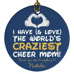 Make Your Crazy Cheer Mom a Christmas Ornament