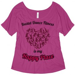 Bastet Dance Fitness Is My Happy Place - Slouchy Tee