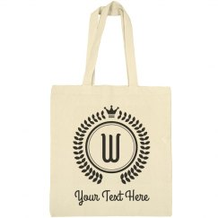 Custom Text Last Name Letter Tote Bag