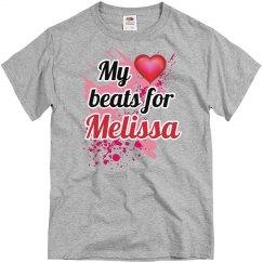 My heart beats..Melissa