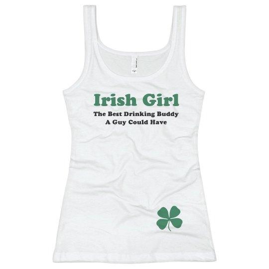 267ae557457 St Patricks Irish Drinking Buddy Ladies Slim Fit Basic Promo Rib Tank Top