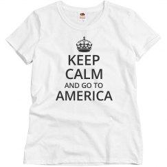 Keep calm go to america