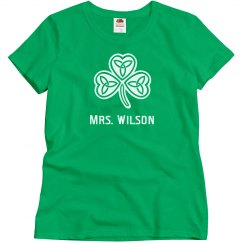 Custom Teacher St. Patrick's Day