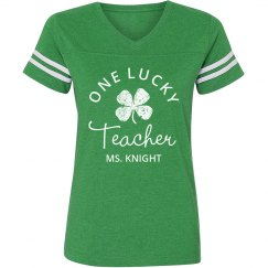 Lucky Teacher Green St Patricks Day