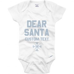 Customizable Dear Santa Onesie