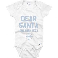 Customizable Dear Santa Onesie