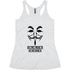 Guy Fawkes, 5th of November Anonymous Tank Top