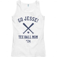 Custom Name Tee Ball Mom