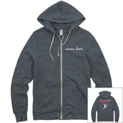 dancer with name zip-up hoodie