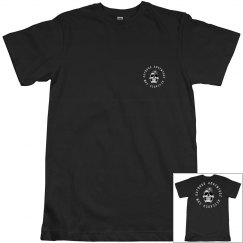 Skull logo dark shirt