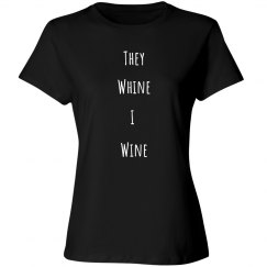 They whine black tee